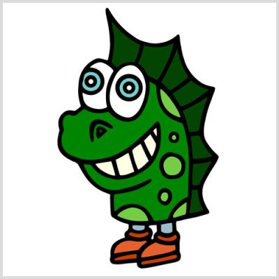 cartoon Loch Ness Monster by Joshua Stanley